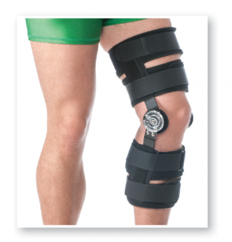 Lightweight Post Operative Knee Brace (With Hinge)