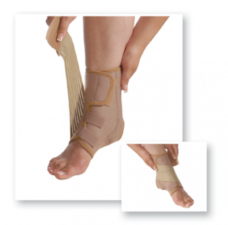 Ankle Support With Ribs and Additional Fixation